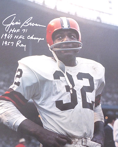 0169a364 Jim Brown Autographed Signed 16x20 Photo Cleveland Browns HOF 71 1969 NFL  Champs & 1957 ROY - PSA/DNA Authentic KEN