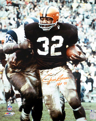 a5c8311b Jim Brown Autographed Signed 16x20 Photo Cleveland Browns HOF 71 - Beckett  Authentic
