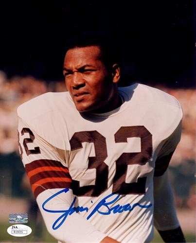 252b3bf37cb Jim Brown Autographed Signed Auto Cleveland Browns White Jersey 8x10  Photograph   JSA - Certified Authentic