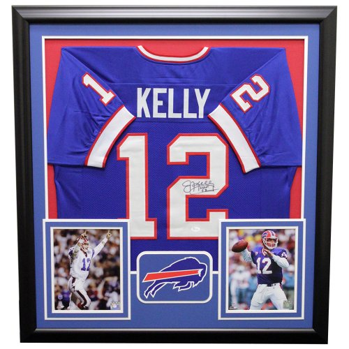 087c831bc88 Jim Kelly Buffalo Bills Framed Autographed Signed Jersey - JSA Authentic
