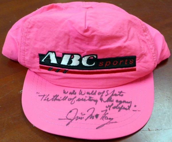 Jim McKay Autographed Signed ABC Hat Wide World Of Sports - Beckett Certified
