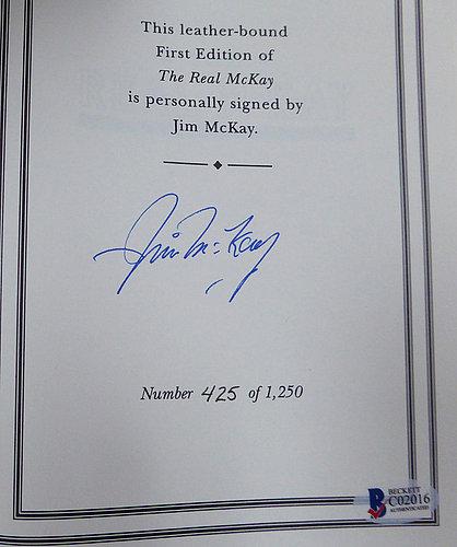 Jim McKay Autographed Signed Hardback Book #/1250 - Beckett Certified
