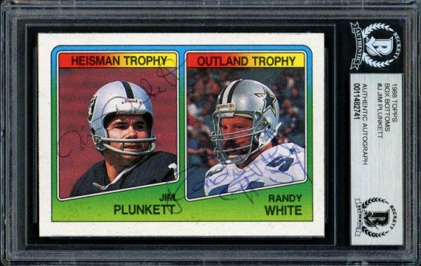 Jim Plunkett 1972 Topps Football Autograph Auto Rookie Card #65 Heisman BAS 10