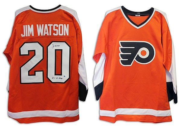 Jim Watson Philadelphia Flyers Autographed Signed Orange Jersey Inscribed 2X SC Champs - COA Included