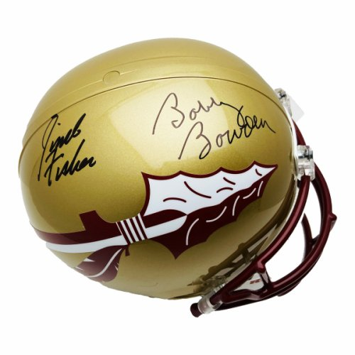 Jimbo Fisher and Bobby Bowden Autographed Signed Florida State Seminoles Riddell Full Size Replica Helmet - PSA/DNA Authentication