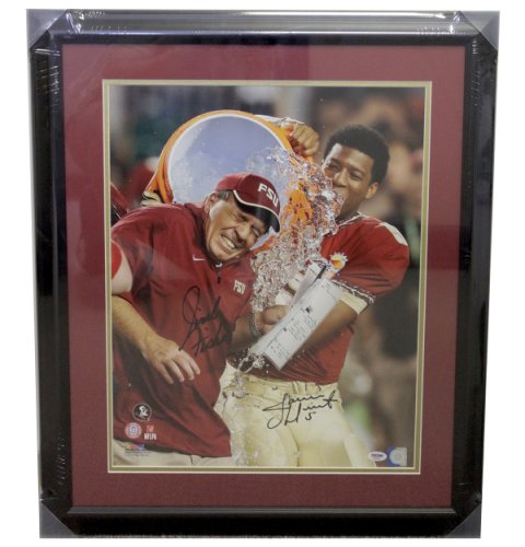 Jimbo Fisher Autographed FSU Seminoles Framed 16x20 Photo - Gatorade Signed by Jimbo - PSA/DNA