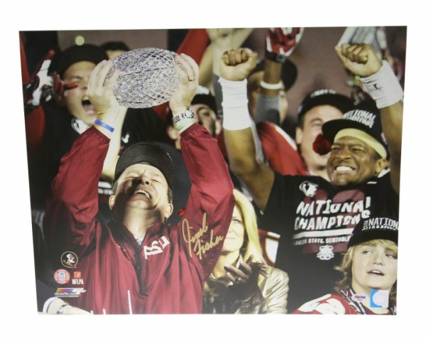 Jimbo Fisher Autographed Signed 16x20 Photo Florida State Seminoles 2013 National Champs - PSA/DNA Certified