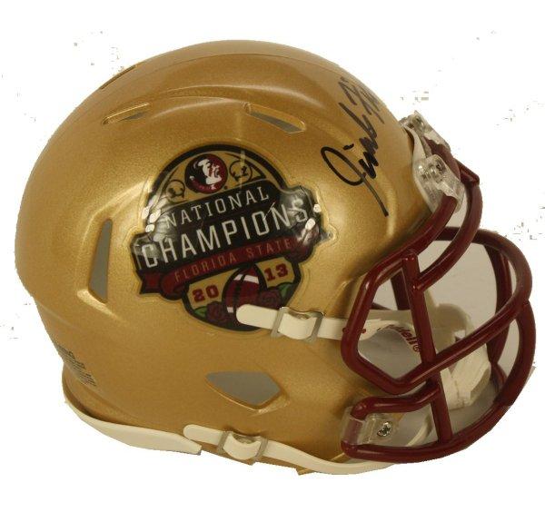 Jimbo Fisher Autographed Signed 2013 BCS Champions Logo Riddell Speed Mini Helmet- PSA/DNA Authentic