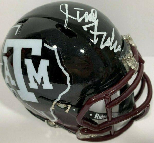 Jimbo Fisher Autographed Signed Autographed Texas A&M Aggies Mini Football Helmet PSA/DNA C