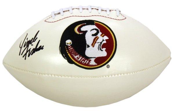 Jimbo Fisher Autographed Signed Florida State Seminoles Logo Football - JSA Certified Authentic