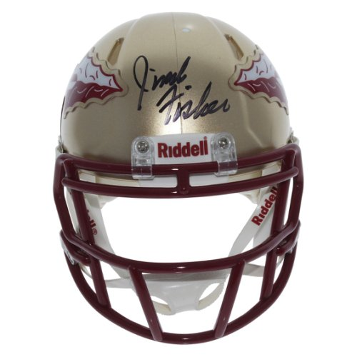 Jimbo Fisher Autographed Signed Florida State Seminoles Riddell Speed Mini Helmet - Certified Authentic