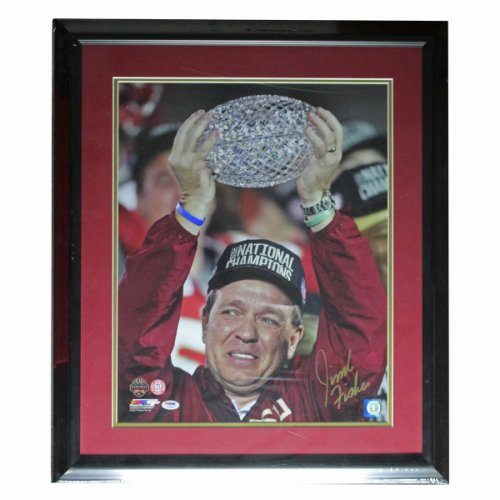 Jimbo Fisher Autographed Signed FSU Seminoles Framed 16x20 Photo - Crystal Ball with Jimbo - PSA/DNA