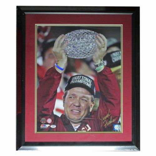 Jimbo Fisher Autographed Signed FSU Seminoles Framed 16x20 Photo - Jimbo Crystal Ball Alone - PSA/DNA