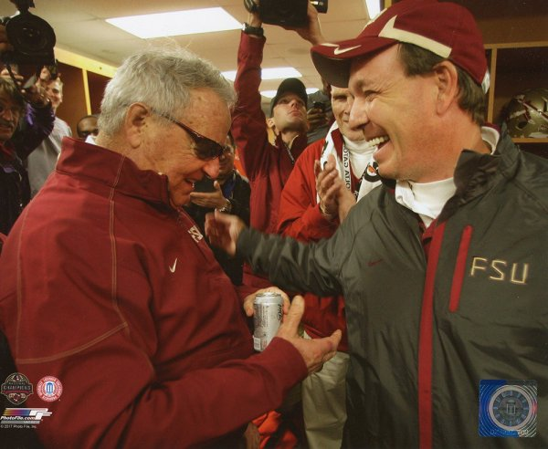 Jimbo Fisher & Bobby Bowden Unsigned Licensed 8x10 Photo Florida State Seminoles