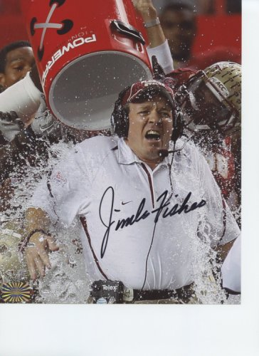 Jimbo Fisher Florida State Seminoles Autographed Signed 8x10 Photo - Certified Authentic