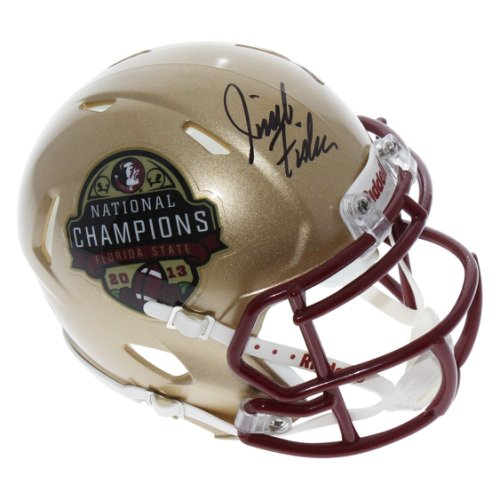 Jimbo Fisher Florida State Seminoles Autographed Signed Riddell 2013 National Champions Speed Mini Helmet - PSA/DNA Authentication