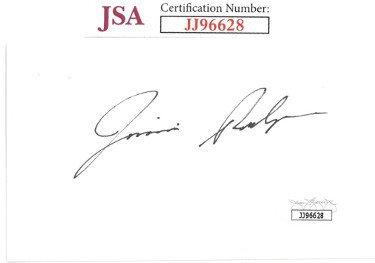 Jimmie Rodgers Autographed Signed 3x5 Index Card- JSA #JJ96628 (Country/Folk Singer)