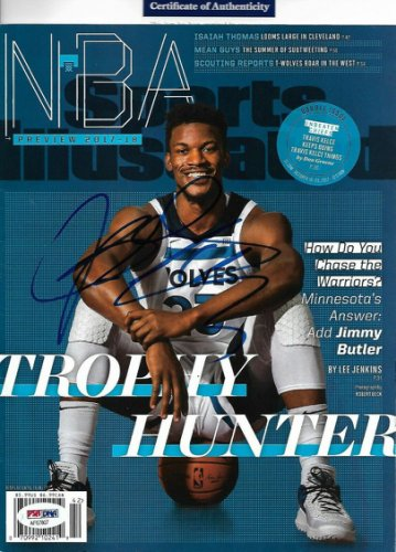 Jimmy Butler Autographed Signed Autographed Sports Illustrated Minnesota T-Wolves With COA PSA