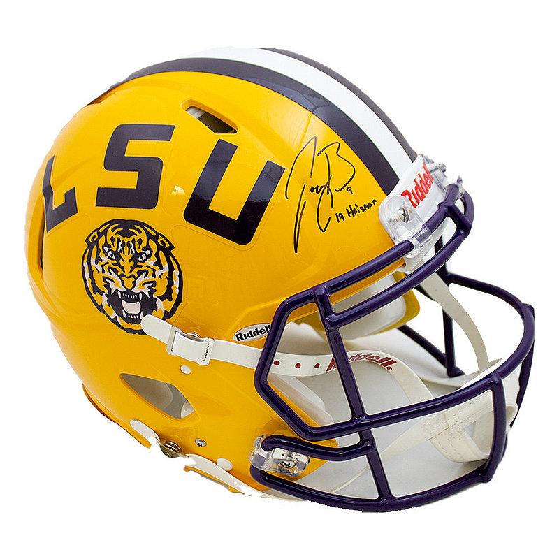 Joe Burrow Signed Autographed Yellow LSU Tigers Riddell Speed Authentic Helmet  19 Heisman - JSA Authentic/Fanatics Hologram