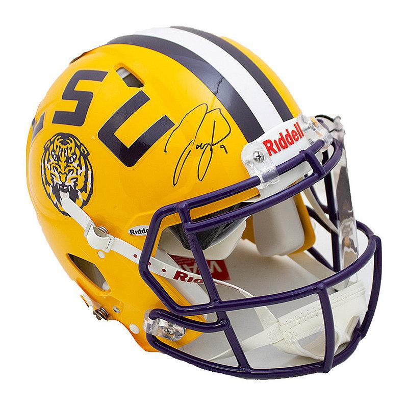 Joe Burrow Signed Autographed Yellow LSU Tigers Riddell Speed Authentic Helmet - JSA Authentic/Fanatics Hologram