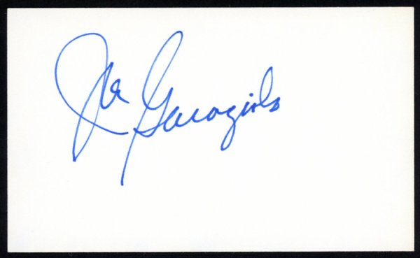Joe Garagiola Autographed Signed 3x5 Index Card St. Louis Cardinals - Certified Authentic