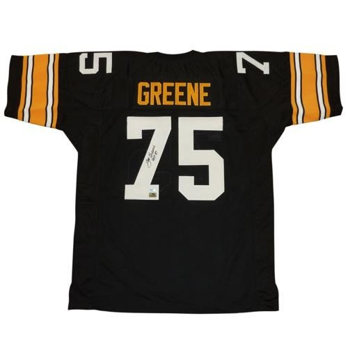 af136706c Joe Greene Autographed Signed Auto Pittsburgh Steelers Black  75 Jersey HOF  87 - Certified Authentic