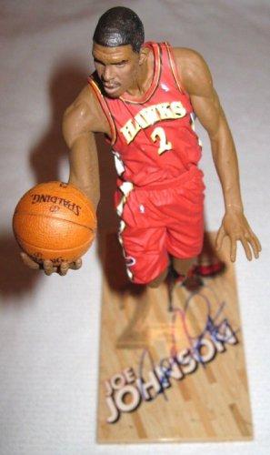 Joe Johnson Autographed Signed Mcfarlane Figure Autograph Atlanta Hawks JSA COA