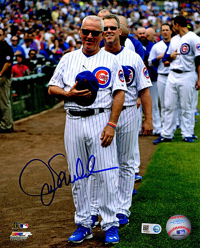 Joe Maddon Autographed Signed Chicago Cubs Wrigley Field National Anthem 8x10 Photo - Certified Authentic Autograph