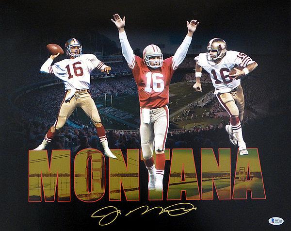 029c12d7d9d Joe Montana Autographed Signed 16x20 Photo San Francisco 49ers - Beckett  Authentic