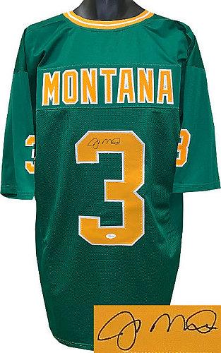 competitive price 8617a 23b59 Joe Montana Autographed Signed Memorabilia Green Tb Custom ...