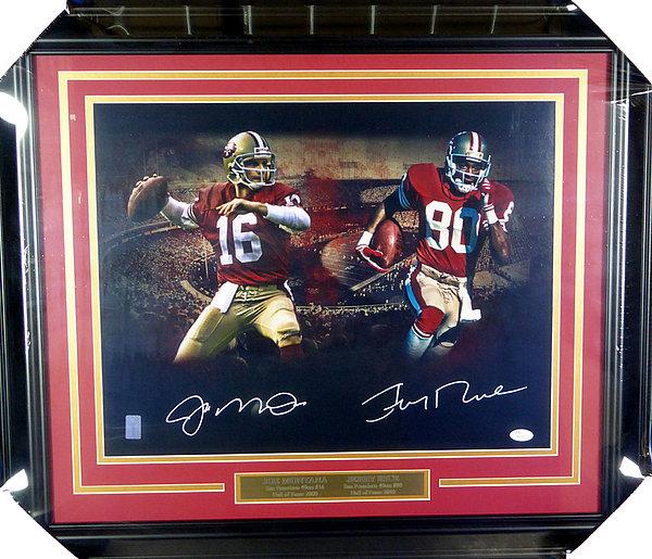 f511947218c Joe Montana   Jerry Rice Autographed Signed Framed 16x20 Photo San  Francisco 49ers - JSA Authentic