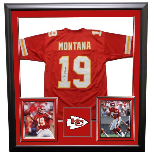 301767bfb Joe Montana Kansas City Chiefs Framed Autographed Signed Custom Jersey -  JSA Certified Authentic