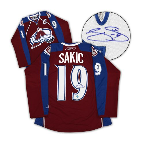 55d8ae8d3 Joe Sakic Colorado Avalanche Autographed Signed Reebok Premier Hockey Jersey  - Certified Authentic