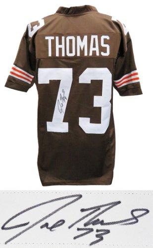 Joe Thomas Autographed Signed Brown Custom Jersey