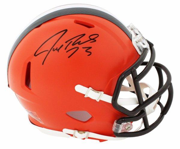 Joe Thomas Autographed Signed Cleveland Browns Riddell Speed Mini Helmet