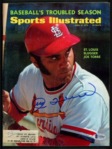 Joe Torre Autographed Signed Sports Illustrated Magazine St. Louis Cardinals Beckett BAS
