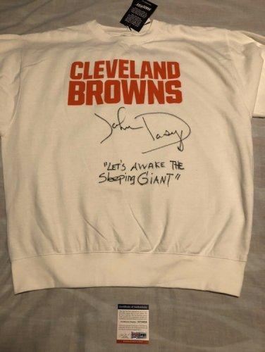 John Dorsey Autographed Signed Autographed Cleveland Browns Sweatshirt Buddy Boy PSA/DNA