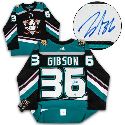 check out 7601e edde4 John Gibson Anaheim Ducks Autographed Signed Mighty Ducks ...