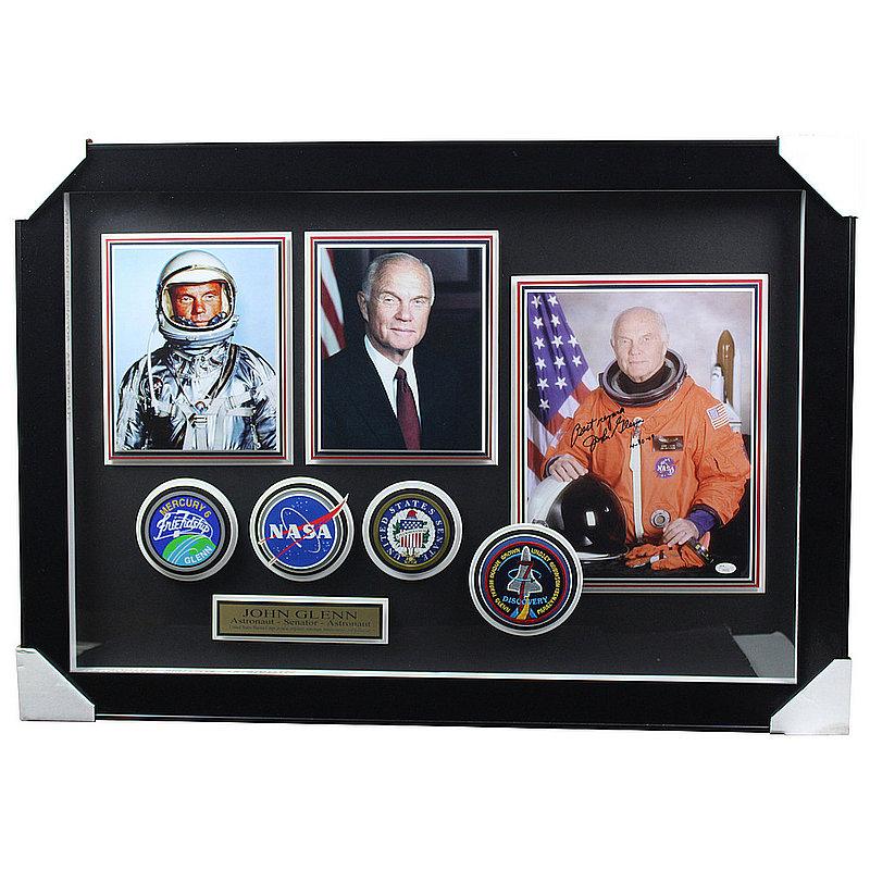 John Glenn Autographed Signed NASA Framed Photo Shadowbox - JSA Authentic