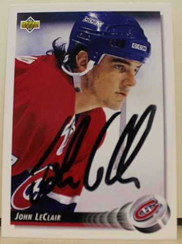 John LeClair Montreal Canadiens Autographed Signed 1992-93 Upper Deck Card - COA Included