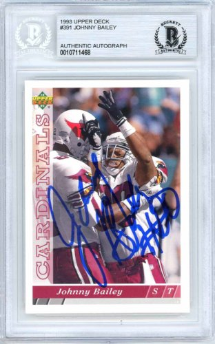 Johnny Bailey Autographed Signed 1993 Upper Deck Card Autographed Signed #391 Arizona Cardinals - Beckett Authentic