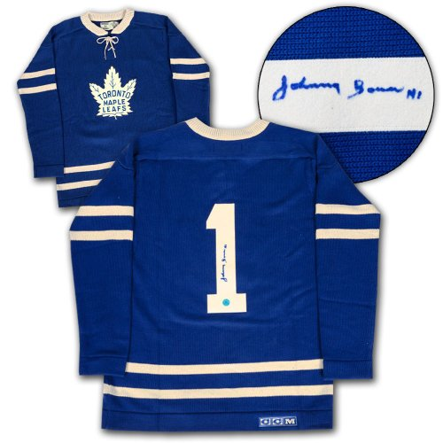 39689245e Johnny Bower Toronto Maple Leafs Autographed Signed CCM Heritage Sweater -  Certified Authentic