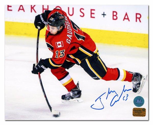 uk availability 8e1c3 2f4d9 Johnny Gaudreau Calgary Flames Autographed Signed Hockey ...