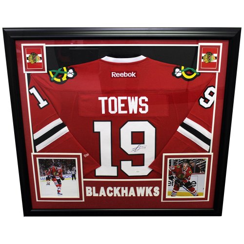 480abdfdc20 Jonathan Toews Chicago Blackhawks Autographed Signed Deluxe Framed Reebok  Jersey - JSA Authentic