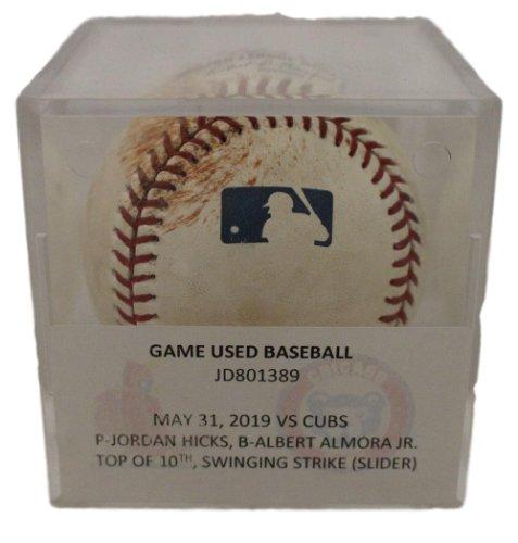Jordan Hicks St Louis Cardinals Game Used OML Baseball May 31 2019 MLB