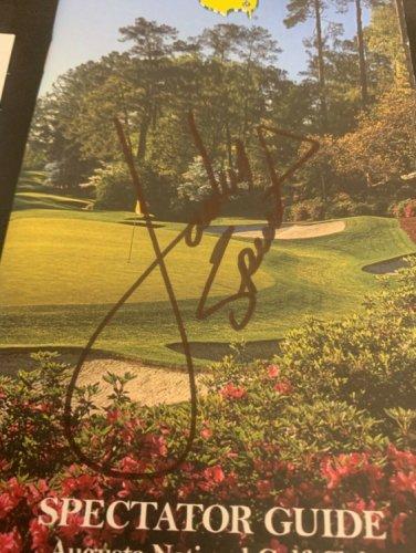 Jordan Spieth Autographed Signed 2015 Masters Golf Spectator Guide Full Autograph JSA