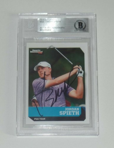 Jordan Spieth Autographed Signed 2015 Sports Illustrated For Kids Rc Card Beckett COA Masters