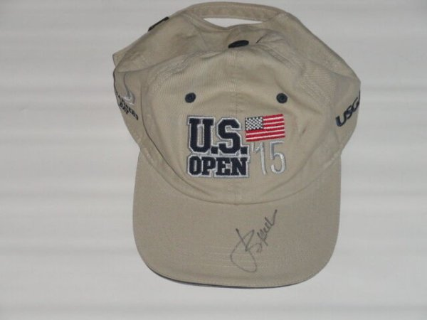Jordan Spieth Autographed Signed 2015 Us Open Hat Chambers Bay Proof Champion JSA COA