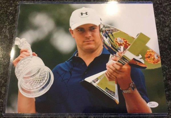 Jordan Spieth Autographed Signed Auto Autograph 11X14 Photo Holding Trophy JSA COA Golf Phx