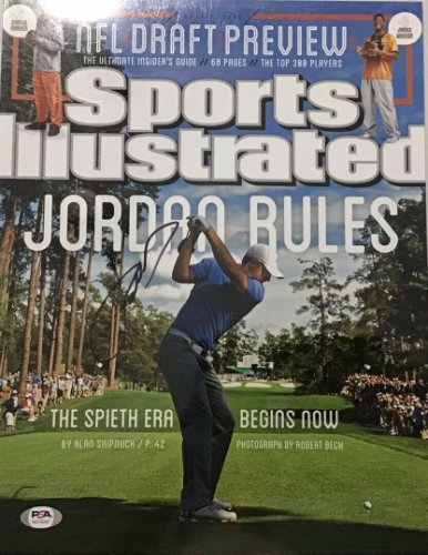 Jordan Spieth Autographed Signed Auto Autograph 11X14 Photo Sports Illustrated PSA